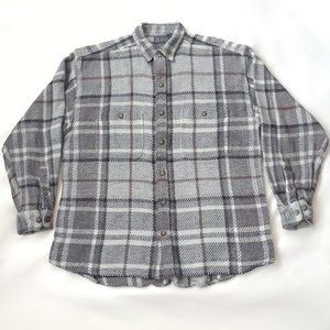 Vintage Raw Rags Relaxed Fit Gray Flannel Shirt